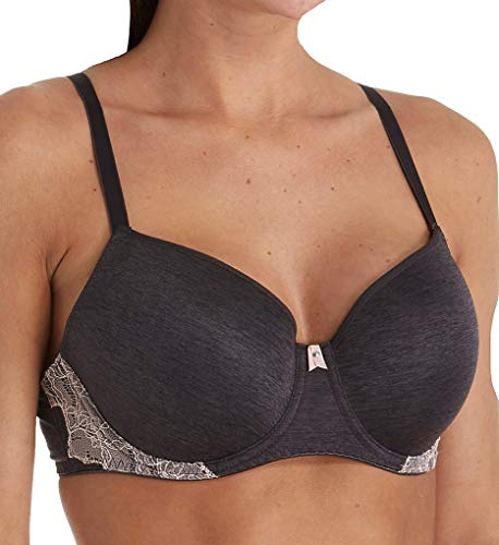 Freya Women's Chi Moulded Balcony Underwire Bra, Charcoal, 34HH