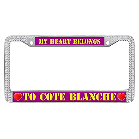 Amazon.com: Hensonata Sparkle white crystal License Plate Frame ...