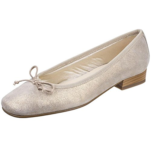 Riva Zapato Fiastra Beige Mujer para Bailarina De Cuero Impreso qa6qAH