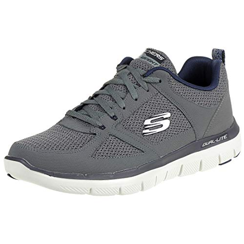Uomo Blue 2 0 da Skechers Sneaker CCBL Point Flex Charcoal Advantage Golden v8xUqw