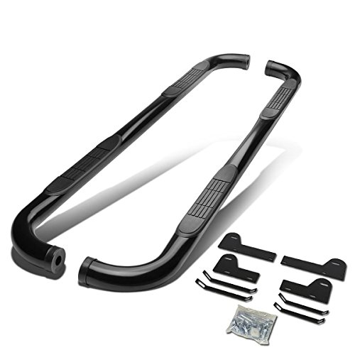 For Dodge Ram 3rd Gen Facelifted Mega Cab 3 inches Side Step Nerf Bar Running Board (Black)