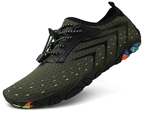 kealux Men Women Barefoot Quick-Dry Water Sports Shoes Multifunctional Sneakers with Drainage Holes for Swim, Walking…