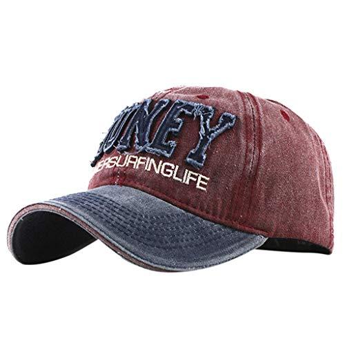 Womens Baseball Cap,Distressed Vintage Embroidered Dad Hat Adjustable Denim Letter Hat Fashion Baseball Cap Yamally