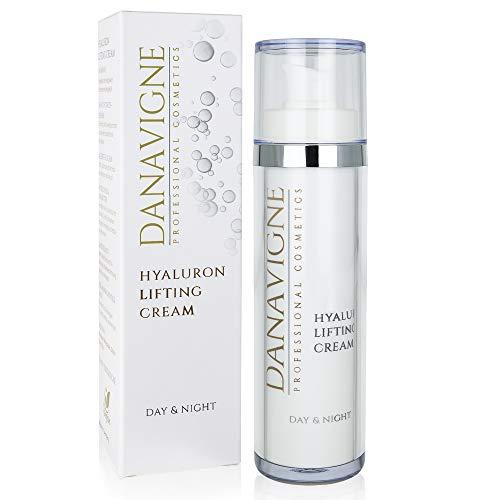 DANAVIGNE Hyaluron Creme Gesicht & Augen – Hyaluronsäure Creme hochdosiert gegen Falten und Augenringe – Anti Aging Gesichtscreme für Männer und Frauen -1er Pack (1 x 50ml)