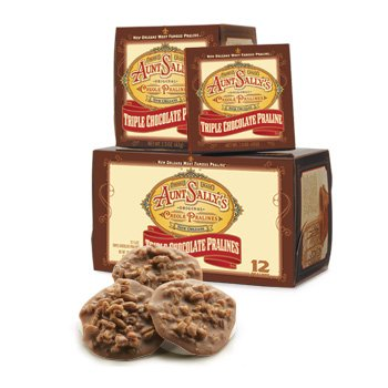 Aunt Sally's Triple Chocolate Pralines Box of 6