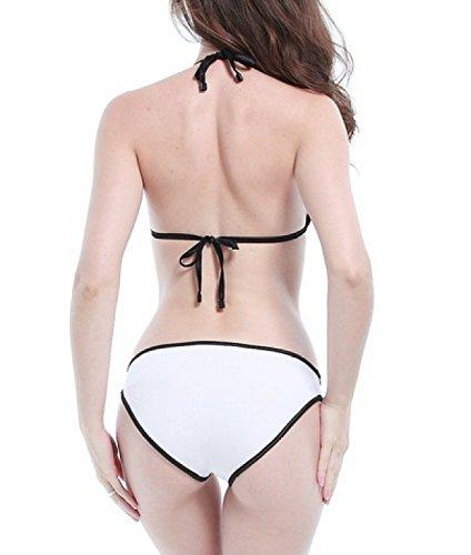 Traje De Baño De Neopreno Traje De Baño Bikini Bikini KUWOMINI.European Y Americano Silver