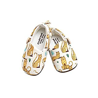 Kinderspel Baby Walker Shoes. Non-Slip Walking Shoes. Baby's First Shoes. Boutique Quality Baby Dress Shoes for Toddlers and Babies. (Savannah Cat - Toddler 6)