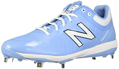 New Balance Men's 4040v5 Metal Baseball Shoe, Baby Blue/White, 10 XW US