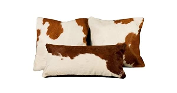 Amazon.com: Vaca almohada funda cojín Vaca Ocultar pelo en ...