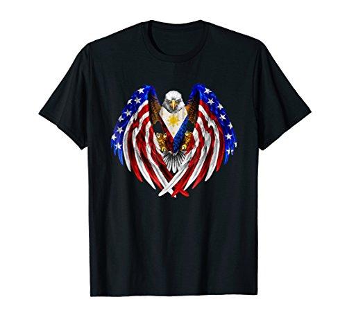 Filipino American Philippines USA Flag Eagle TShirt -
