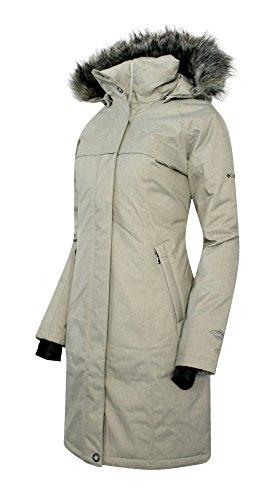 COLUMBIA Women's Flurry Run Down Long Omni Heat Jacket Coat Hooded Parka (Small, ()