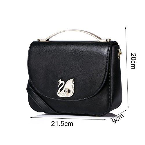 ZQ Casual Fashion Handbag Bag Leather Messenger Shoulder Genuine Tide Female fwYxFPZrfq