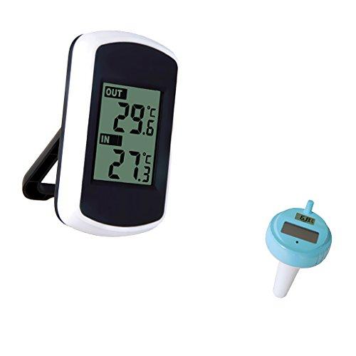 MonkeyJack Remote Floating Wireless Temperature Meter Poo...