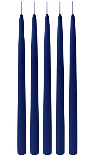 Hand Candle - Blue Taper Candles Elegant Premium Quality 15 Inches - Hand-dipped - Extra Tall (Blue)