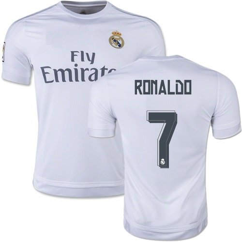 [Real Madrid Home Ronaldo Kids #7 Soccer Kit Jersey and Shorts 4 IN 1 MULTIPLE GIFT KIT All Youth Sizes (Kids Medium 8-10 years of age)] (Real Football Kit)