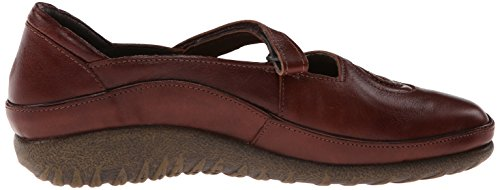 Theresia Muck - Zapatillas de casa de cuero para mujer Luggage Brown Leather