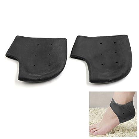 Amazon.com: eDealMax 1 Par Negro transpirable hidratante agrietado de la piel del Pie Refinar Gel Protector de talones: Health & Personal Care