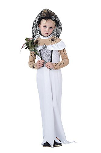 Girls Zombie Bride Costume for Halloween Living