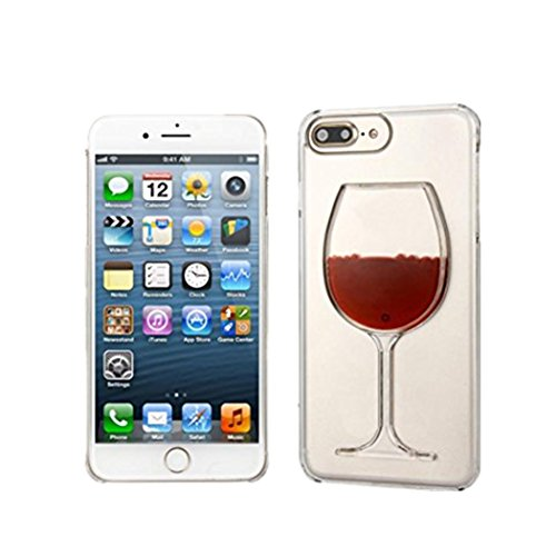 Filled Case (DDLBiz Red Wine Glass Cocktail Liquid Case Cover For iPhone 7 Plus 5.5Inch)