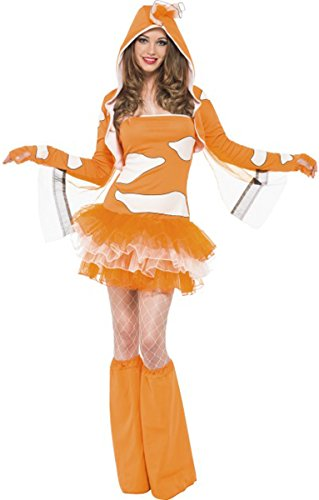 Fever Clownfish Tutu Dress With Detachable Straps Medium Orange (Fancy Clownfish)