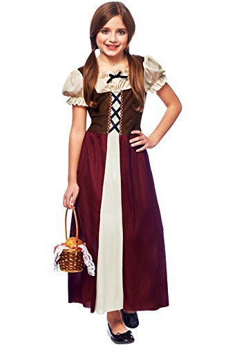 Costume Culture Child Peasant Girl Costume, Burgundy, Large by Costume Culture by Costume Culture