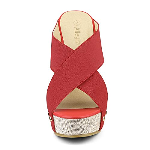 Allegra Linge Coin Femme K Diapositive Bout Ouvert Red Sandals zwqrzfU