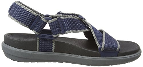 Sling II Back-Strap in Webbing, Sandales Bout Ouvert Homme, Multicolore (Midnight Navy/Charcoal 568), 43 EUFitFlop