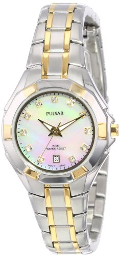 Pulsar Unisex PH7240 Analog Japanese-Quartz Two Tone Watch