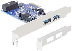 Delock 2 x ext. USB 3.0, LP, PCIe + 1xUSB3.0 Pin Header int, 89315 (+ 1xUSB3.0 Pin Header int)