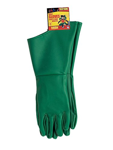 Rubie's Men's Teen Titans Robin Adult Gloves, Green, One Size