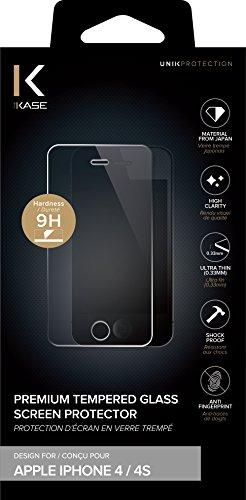 The Kase 7192451–Pellicola proteggi schermo in vetro temprato per iPhone 4/4S trasparente