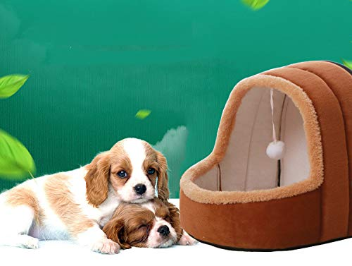 YSDTLX Haustierbett Mongolische Jurte Haustier Nest Spielen Schlaf Eine Saison Universal Haustier Matratze, Braun, 35  34  32 cm