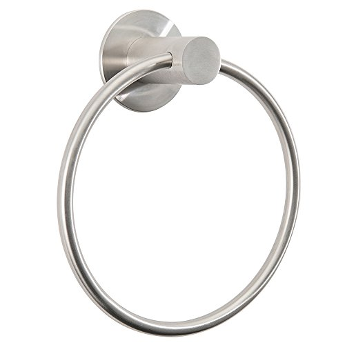 Gricol Towel Ring Nail Free Self Adhesive Stainless Steel Wall Mounted No Drills (Brushed)