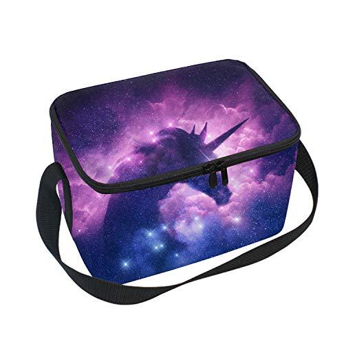 Fashion Style-Friendly Polyester Fiber Lunch Bag/Tote - Smoke Unicorn Horse