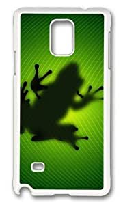 Unique Frog Behind Leave Hard Case Protective Shell Cell Phone Iphone 4/4S - PC White