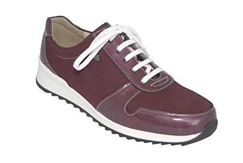mujer rojo para Finn Amarena Comfort cordones Zapatos de 6xZXqSz