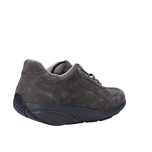 Sneakers Gris 37 MBT Mujer EU Cuero Nubuck HRxxqdwfP
