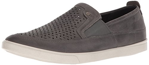 - ECCO Men's Collin Perforated Slip On Sneaker, Titanium, 44 M EU (10-10.5 US)