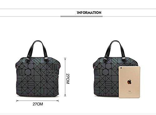 Shoulder Quilted Handbags Geometric Plain Folding 2 2 Bags Tote Women tFxEv6q