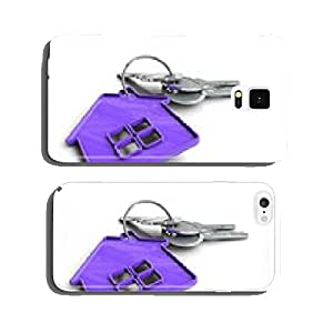 House keys with house icon as keyring cell phone cover case Samsung S6