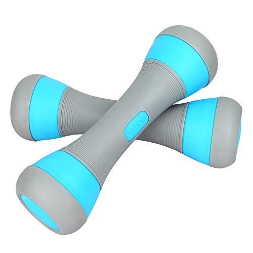 Instelbaar Haltergewicht Paar, 5-in-1 Gewicht Opties van 1 tot 2 kg / 5 kg, Antislip Neopreen Hand, Universeel Gebruik…