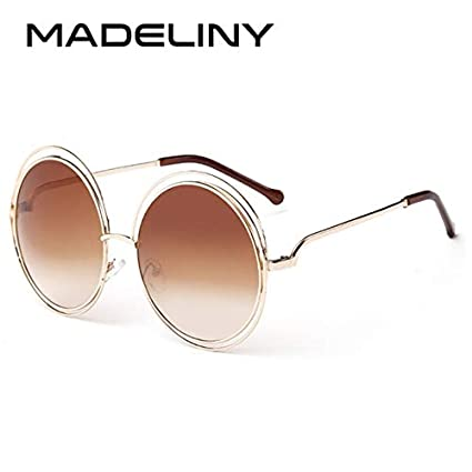 fd71c525855 Image Unavailable. Image not available for. Color  Kasuki Newest Fashion  Carlina Round Wire-Frame Sunglasses 2016 New Vintage Fashion Sun Glasses  Women