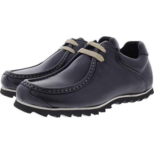 Snipe Negro para de Zapatos Cuero Negro Cordones de Mujer 0Fv0xr7q