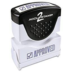 ACCUSTAMP2 Accustamp2 Shutter Stamp with Microban, Blue, APPROVED, 1 5/8 x 1/2