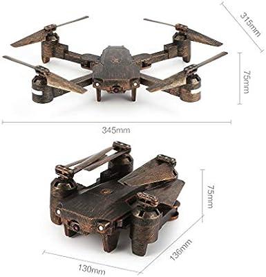 GreatWall Attop X-PACK1 2.4G - Dron teledirigido con cámara FPV, Plegable, Color marrón: Amazon.es: Hogar