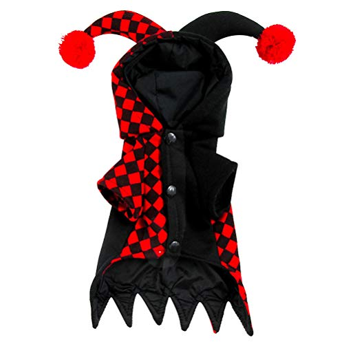 BESTOYARD Dog Jester Costume Pet Clown Costume pet
