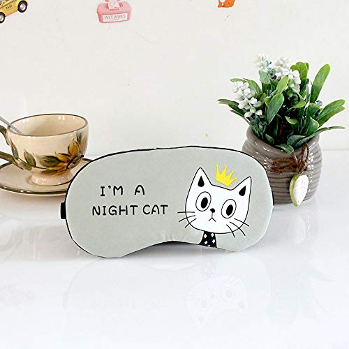 - Soft Sleeping Mask Eyepatch Cat Cotton Portable Eye Mask Light Shading Creative Cartoon Travel Relax Sleeping Rest Aid MP0130 F396