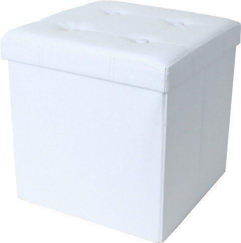 teprovo Asiento de Cubo Taburete de Caja Blanco: Amazon.es: Hogar