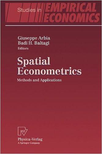 Book Spatial Econometrics: Methods and Applications (Studies in Empirical Economics)