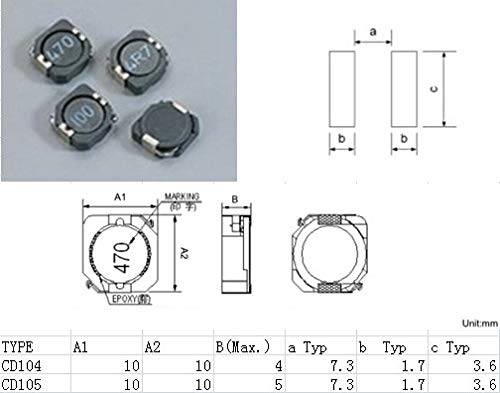 Maslin 3.8UH 10104MM 5.5A Power inductors CD104-3R8 Mark:3R8 Patch Shielded inductors New and Original